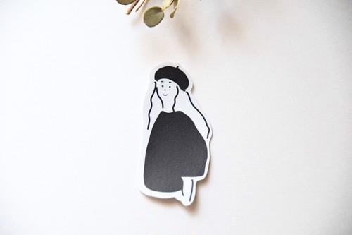 ゆるいステッカー / ベレー帽の女の子