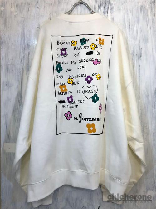 【MARK GONZALES】FLOWERS PT BIG S/W WHITE