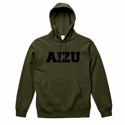 AIZU-スウェットプルオーバー パーカ BASIC/オリーブ