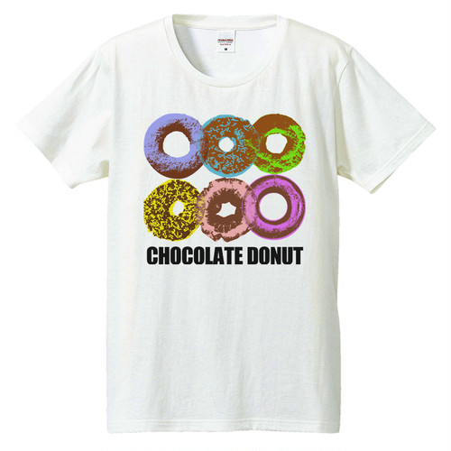 [Tシャツ] Chocolate donut