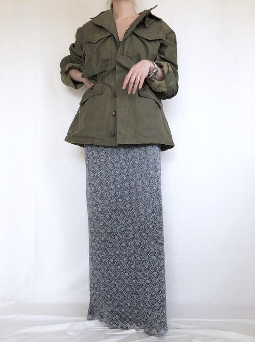 vintage crochet lace maxi skirt