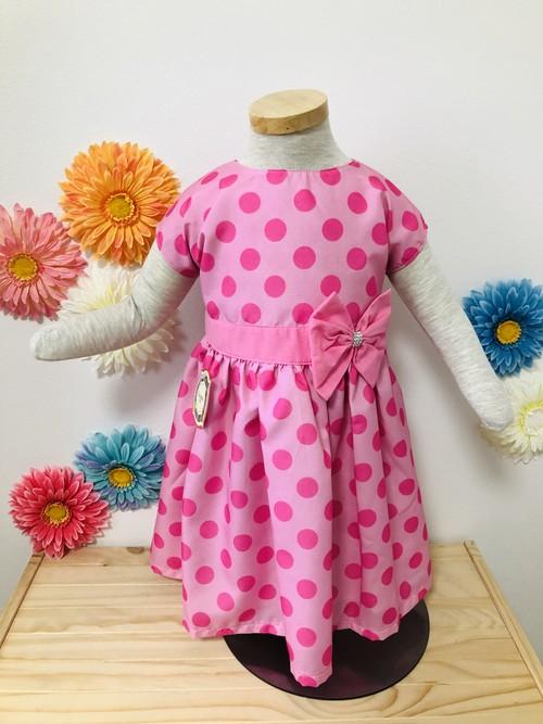 SOLBONITO ベビー用ドレス ピンクドット