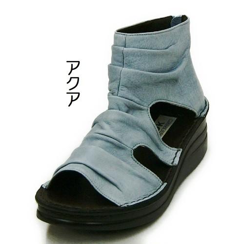 【A-OK】  シンプルくしゅくしゅで超ソフト本革のサマーブーツ!!! 《4050》