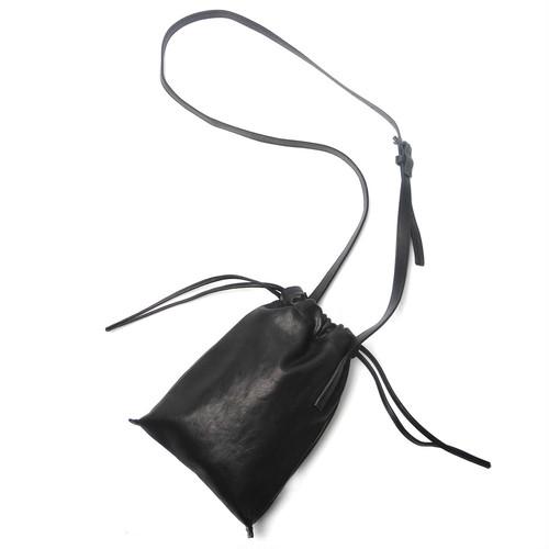 203ABG01 Leather cell phone bag 'drawstring' ショルダーバッグ スマートフォンケース 巾着