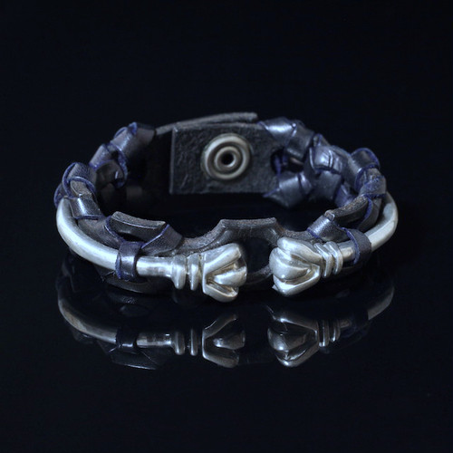 Eregion Arrow Leather/Pewter Cuff
