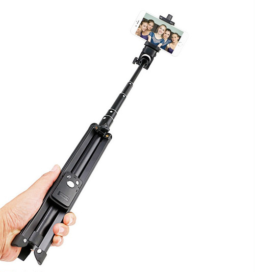 YUNTENG社・VCT-1688・三脚機能付スマートフォンSelfie Stick(セルフィースティック)  他の小型カメラ機器も装着可