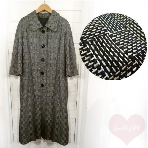 刺繍ロングコート