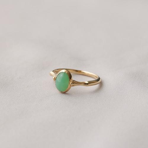 花テーブル ring - クリソプレーズ (gold)
