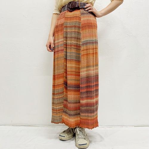 (LOOK) asymmetry border long skirt