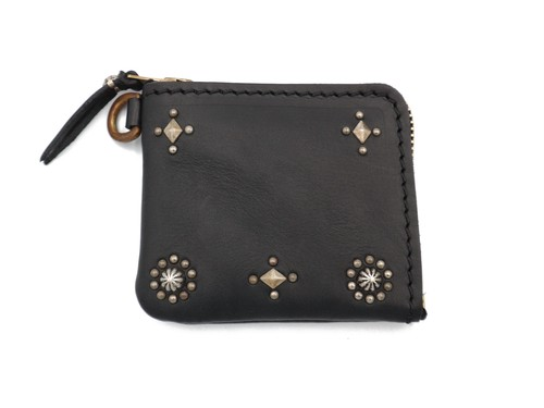 L ZIP  STUDS WALLET (CROSS & SUN)