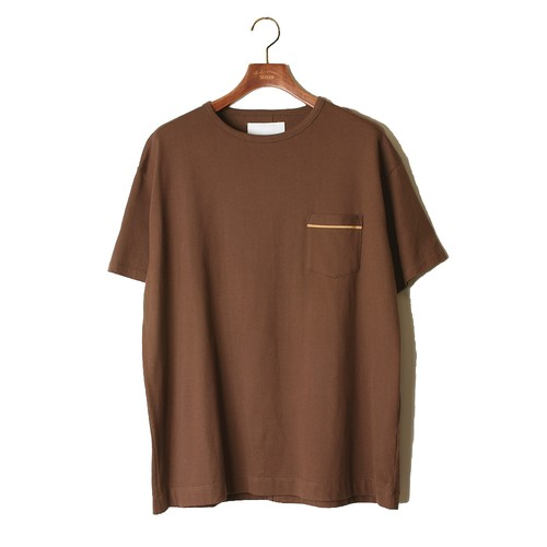 1 pocket Loose Tee -brown <LSD-AI3T5>