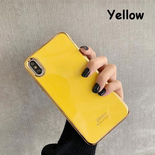 【注文商品】Simple Color Plating Soft Silicon iPhoneケース【Yellow】