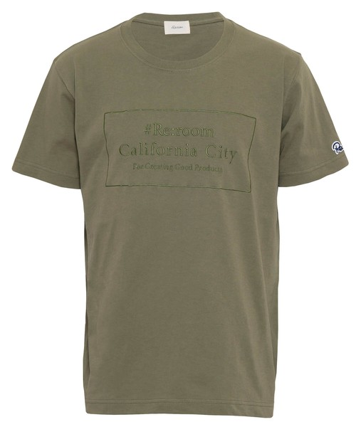 LOGO EMBROIDERY MESSAGE T-shirt[REC367]