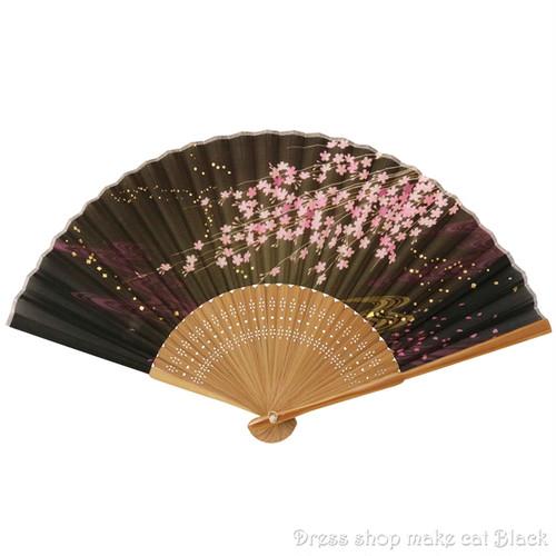 旭王 扇子 桜 ブラックブラウン 13106 夏祭り 浴衣