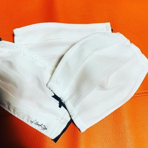 裏表正絹・和マスク 駒絽白襦袢地 (裏 羽二重使用)