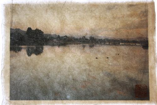 Shunsai Yonemura's artwork 桂川, 嵐山 京都 Katsuragawa river, Arashiyama, Kyoto