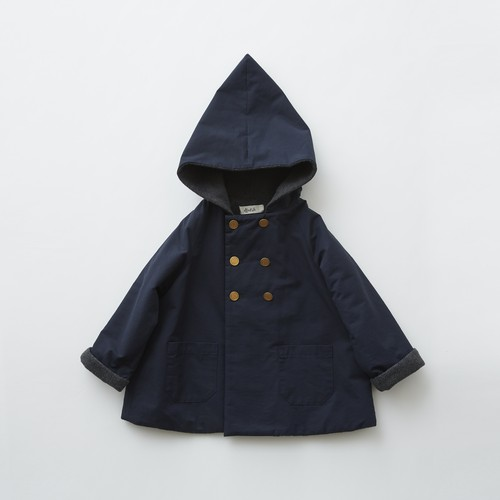 《eLfinFolk 2019AW》elf coat / navy / 90・100cm