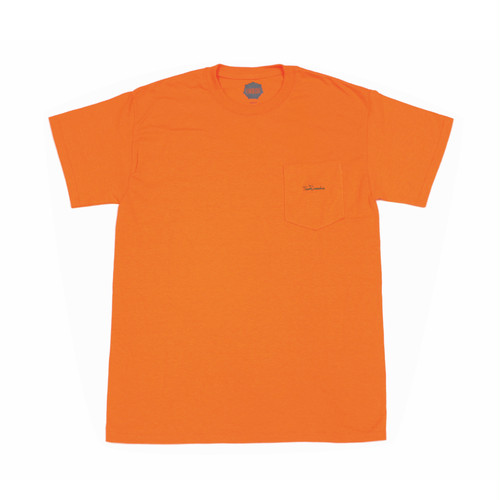 FLOWGRESSIVE FG TAG POCKET TEE BY ELI MORGAN GESNER ORANGE