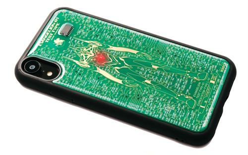 FLASH EVA01 iPhone XRケース 緑【東京回路線図A5クリアファイルをプレゼント】