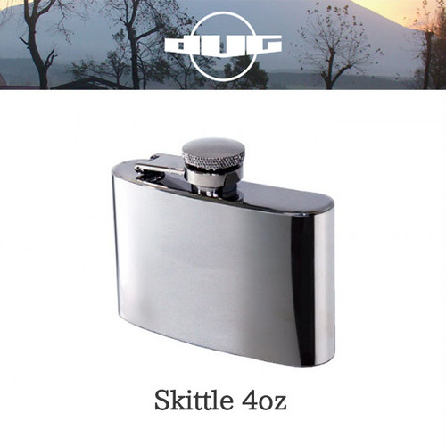 DUG(ダグ) スキットル 4oz DG-0601 アウトドア サバイバル キャンプ グッズ ステンレス製 蓋落下防止 プレゼント