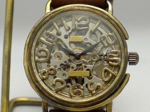 手作り時計 Hand Craft Watch 手巻きBrassJUMBO 数字インデックス [BHW087 SV/BR]