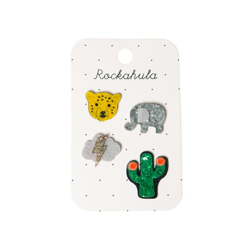 D1172M Wild Animals Badge Set