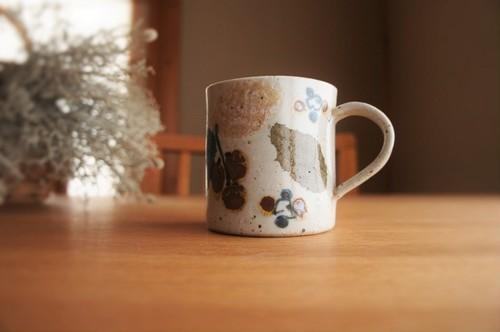 砥部焼/マグカップ(特大)/木の葉