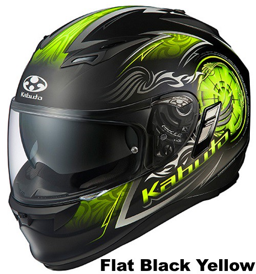 OGK KAMUI 2 BLAZE Flat black yellow