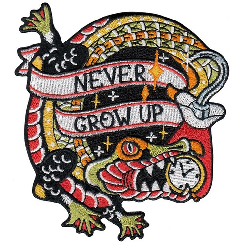 "labarbuda""NEVER GROW UP HOOK PATCH BY LA BARBUDA"""