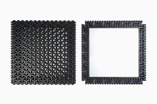漆影 手鏡(組亀甲柄)/ SHITSU-EI - Hand Mirror (Kumikikkou pattern)