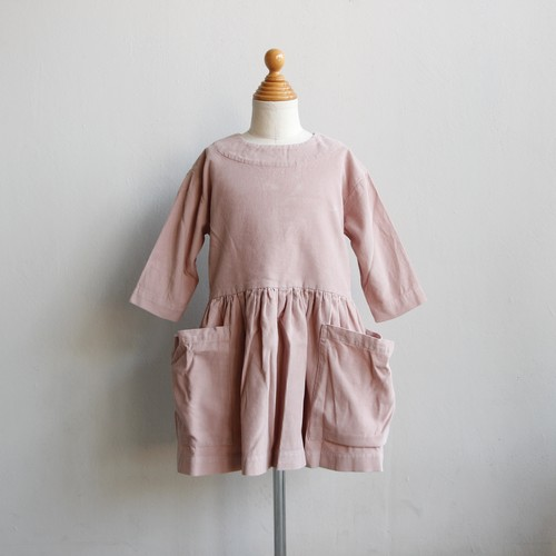 《AS WE GROW 2020AW》Pocket Dress long sleeve / Pink