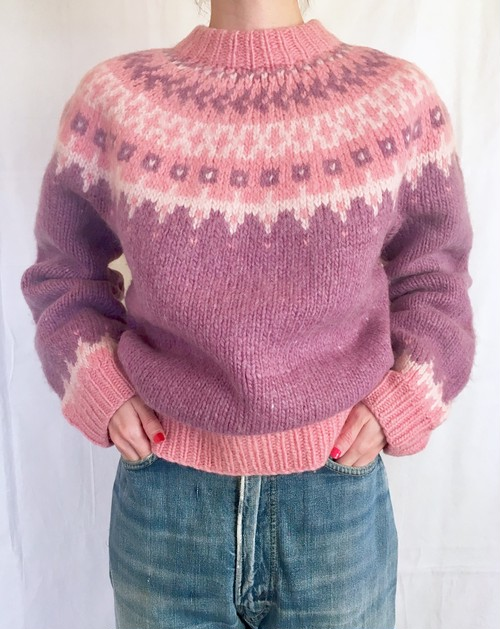 vintage pastel color lopi knit