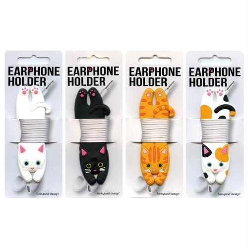 猫イヤホンホルダー(コードホルダーキャット)全4種類