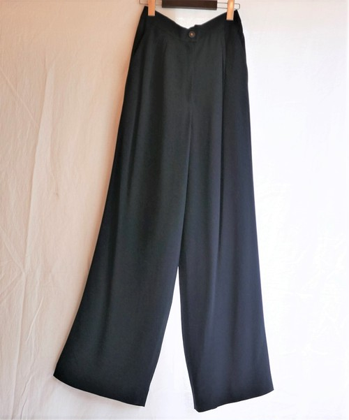 CHANEL Wide Pants -Navy-
