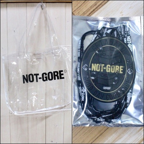 GETABACO×COZY HOUSE TOKYO [NOT-GORE] CLEAR BAG & SHOE LACES SET