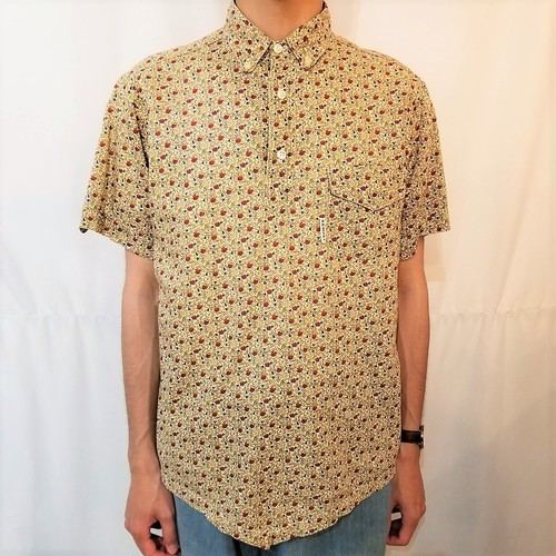 Kempel  flower pattern pullover shirt /Made In Germany [1363]