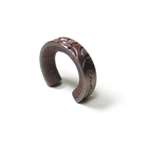 cometman 銅とブビンガ材のリング1