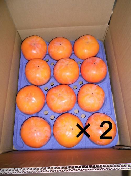 【予約販売】富有柿24個入り(Lサイズ)ー農薬・化学肥料・除草剤不使用ー