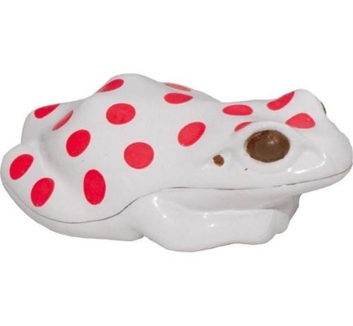 蛙ライト 白色LED 赤水玉
