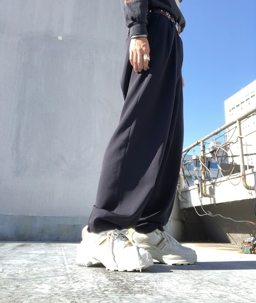 Y's for men / 2tack wool wide trousers