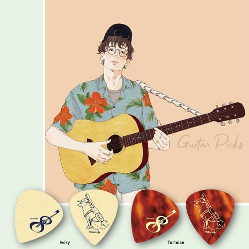 ギターピックセット [mateppe ver.] 4枚