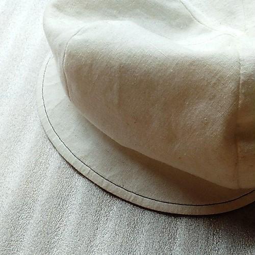 帽子 キャスケット 中古 57.5cm 白