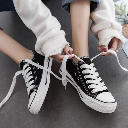 【バッグ&シューズ】合わせやすい歩きやすい定番シンプルズック靴スニーカー23849121