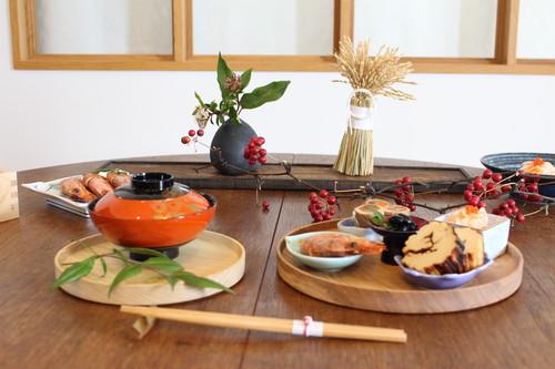 【セット販売】円居という名の木の器 φ240皿 × 箸置き【home】small