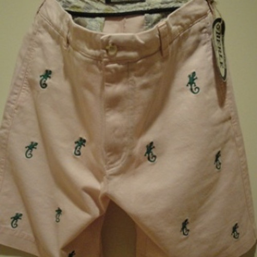 "BERLE/バール USA | 【大特価 50%OFF】 EMBROIDERY CHINO SHORTS ""GECO"" PINK"