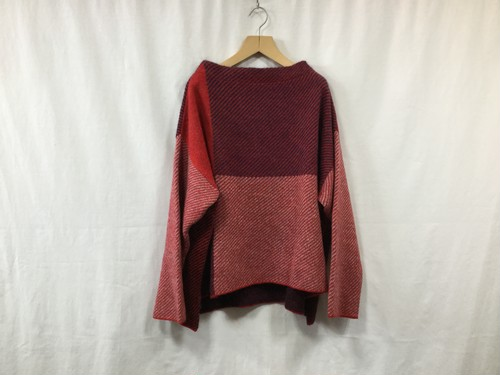 """L'ANIT""""color combination knit red/nay/gray"""""""
