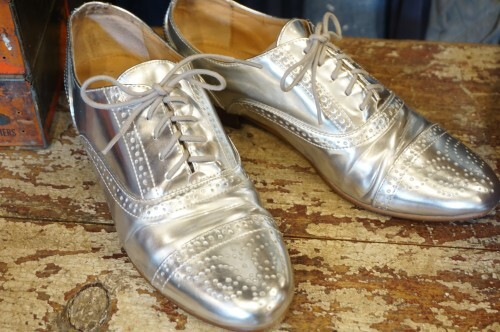 J.CREW silver balmoral dress Shoes