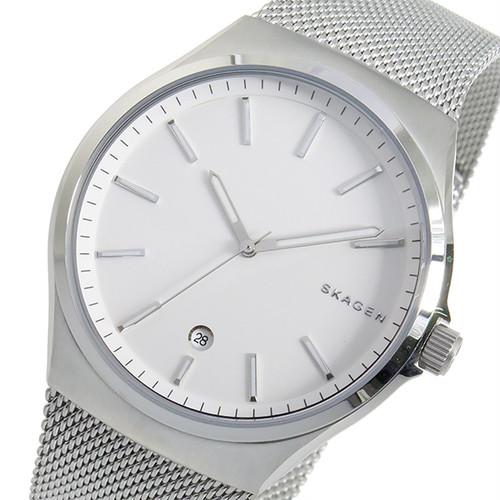 スカーゲン SKAGEN クオーツ メンズ 腕時計 SKW6262 ホワイト ホワイト