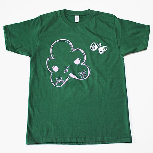 おはなコちょうちょコTシャツ(濃緑のSサイズ)