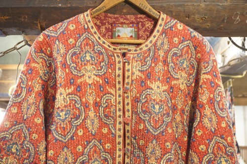 "80's ethnic quilted Jacket ""reversible"""